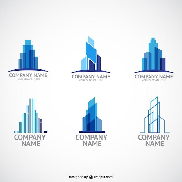 Entreprise De Construction Modèles De Logo Vecteur gratuit