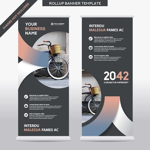 Entreprise De Fond De Ville Roll Up Design Template.flag Banner Design. Peut être Adapté à La Brochure, Rapport Annuel, Magazine, Affiche, Présentation D'entreprise, Flyer, Site Web Vecteur Premium
