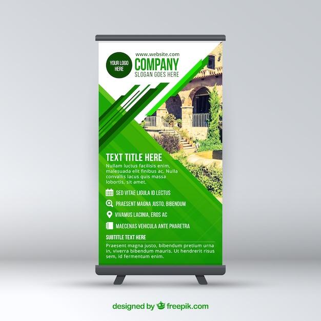 L'entreprise Verte Moderne Roule Vecteur Premium