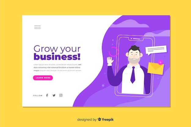 Les entreprises développent votre page de destination Vecteur gratuit