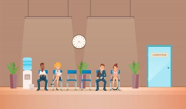 Entretien D'embauche Et Recrutement. Illustration Vectorielle Vecteur gratuit