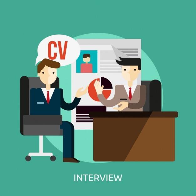 Entrevue d'emploi fond Vecteur gratuit