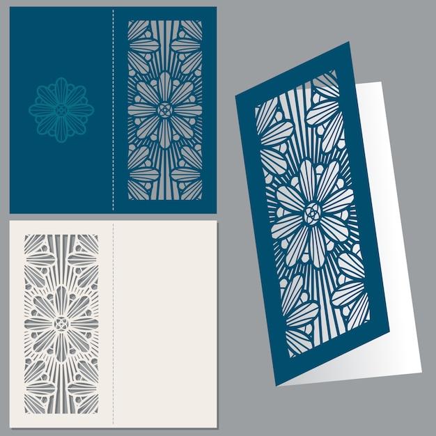 Enveloppe de carte postale invitation de mariage vintage Vecteur Premium