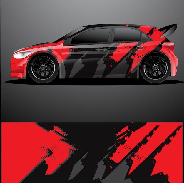 Enveloppe Graphique De Voiture De Rallye, Dessin Abstrait Vecteur Premium