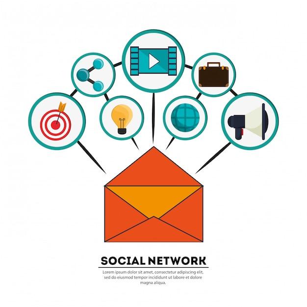 Jeu d'icônes aquarelle abstrait réseau social | télécharger des.