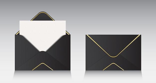 Enveloppe papier ouverte, message, courrier, email. Vecteur Premium