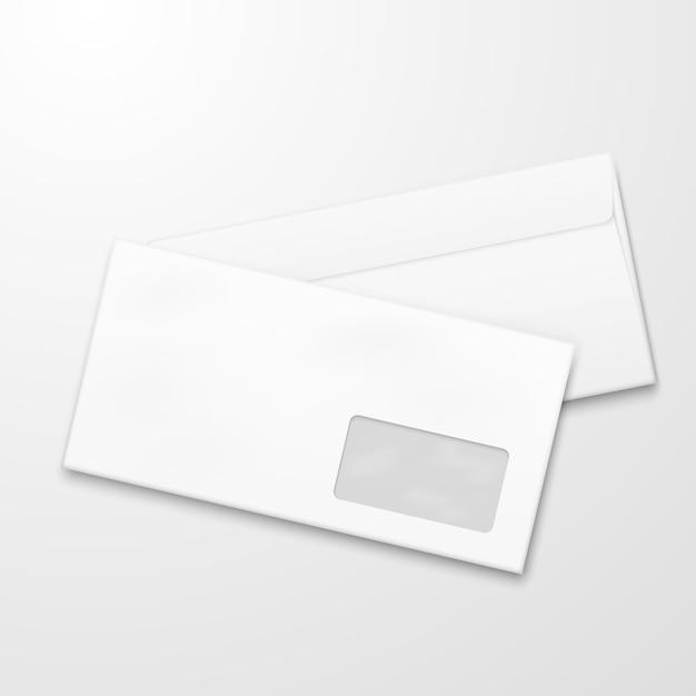 Enveloppes en papier vierges. concept de vecteur de marketing par courriel Vecteur Premium