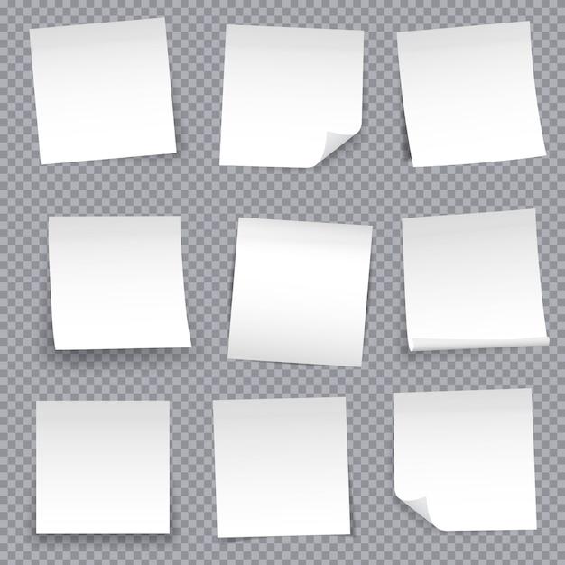 Épinglette autocollante en papier pour note ruban adhésif collant. Vecteur Premium