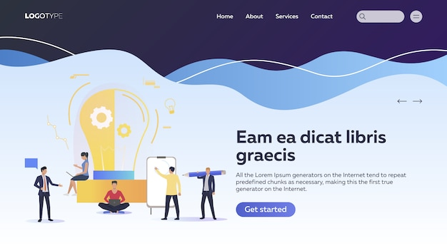 Équipe Créative Travaillant Au Démarrage Vecteur gratuit