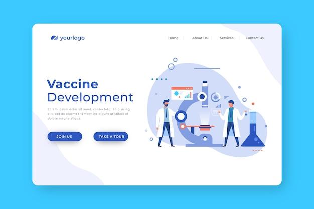 Équipe De Développement De Vaccins Composée De Scientifiques Vecteur gratuit