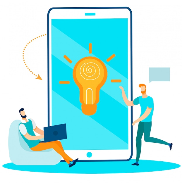 Equipe du bureau de recherche créer une idée pour le démarrage Vecteur Premium