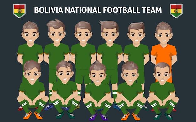 Equipe nationale de football de bolivie Vecteur Premium