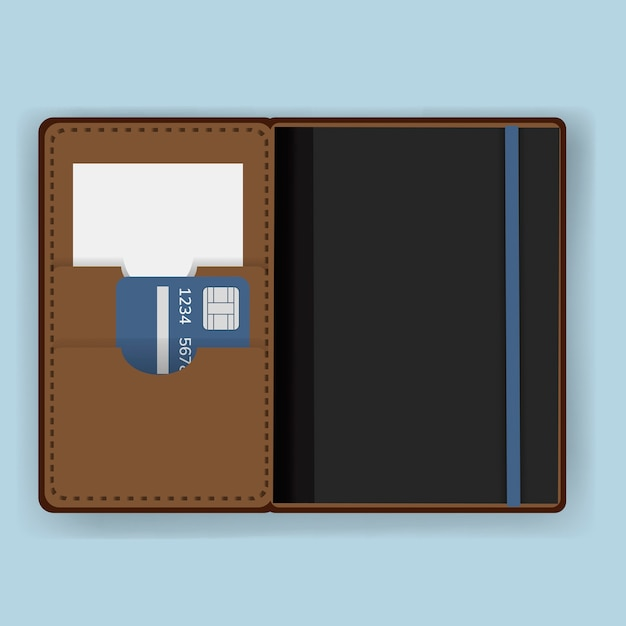 Équipement de couverture de détenteur d'un passeport Vecteur gratuit