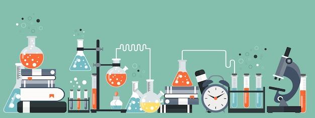 Équipement de laboratoire Vecteur Premium