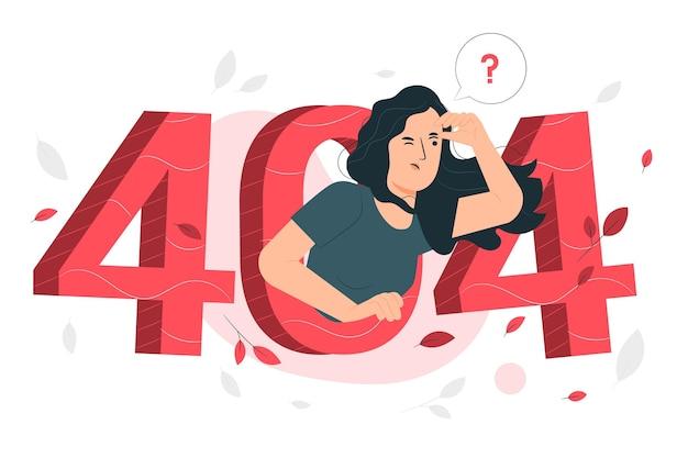 Erreur 404 Concept Illustration Vecteur gratuit