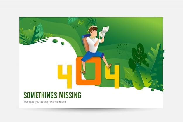 Erreur 404 concept de page de chargement Vecteur Premium