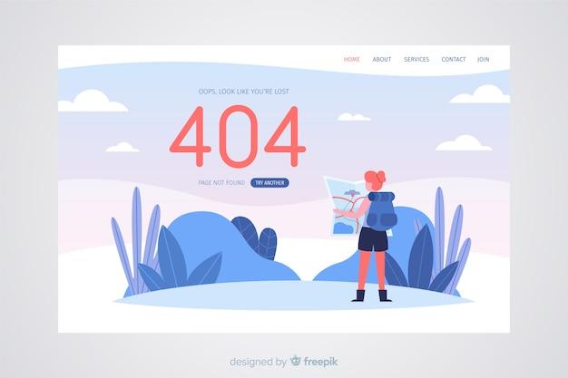 Erreur 404 Concept Pour La Page De Destination Vecteur gratuit