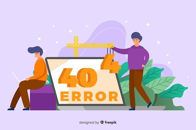 Erreur 404 design plat de modèle de page de destination Vecteur gratuit