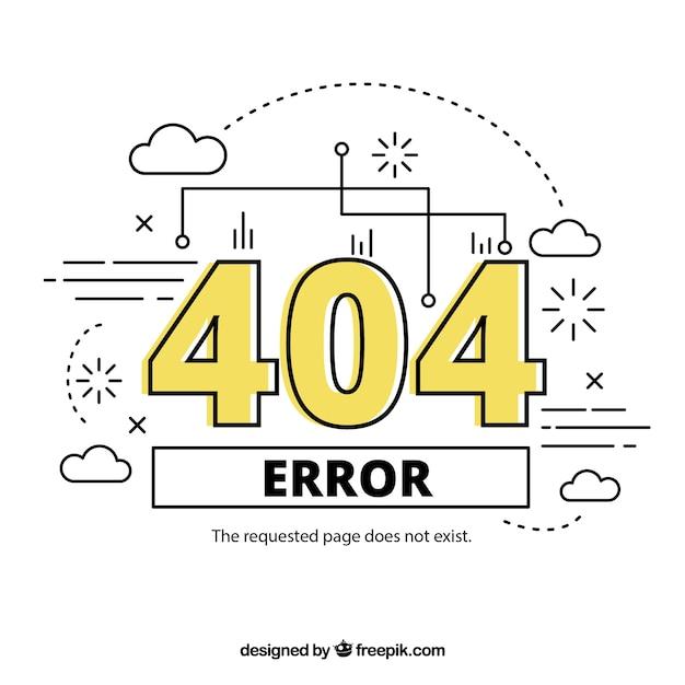 Erreur 404 dessiné à la main Vecteur gratuit