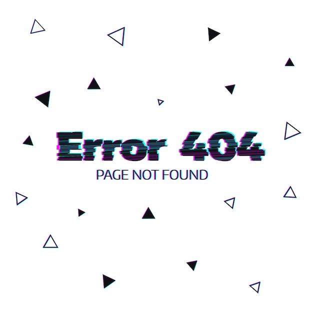 Erreur 404 message Vecteur Premium