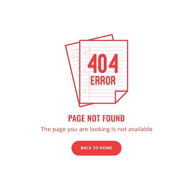 Erreur 404 - page non trouvée Vecteur Premium
