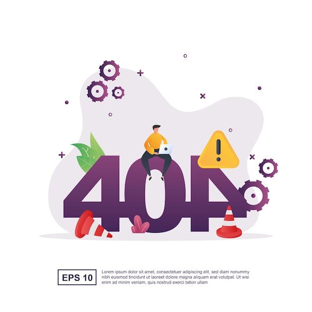 Erreur 404 Avec Une Personne Tenant Un Ordinateur Portable. Vecteur Premium