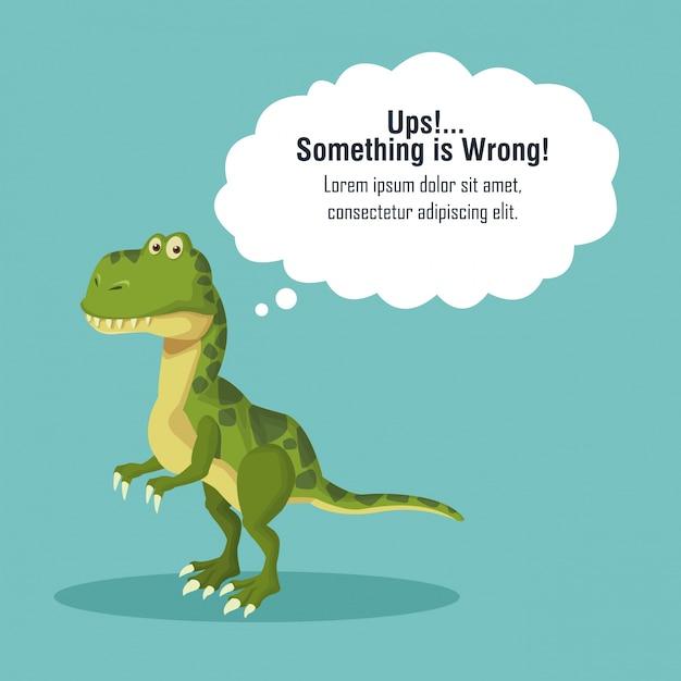 Erreur 404 thème de dinosaure Vecteur Premium