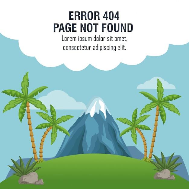 Erreur 404 thème vulcan Vecteur Premium