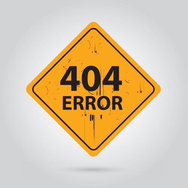 Erreur 404 Vecteur Premium