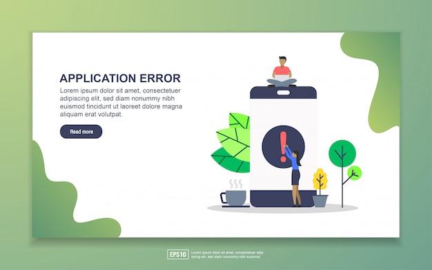 Erreur d'application Vecteur Premium