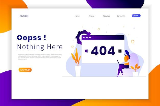 Erreur De Conception Plate Moderne 404 Pages De Destination Vecteur Premium