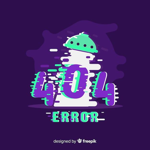 Erreur glitch 404 fond de page Vecteur gratuit