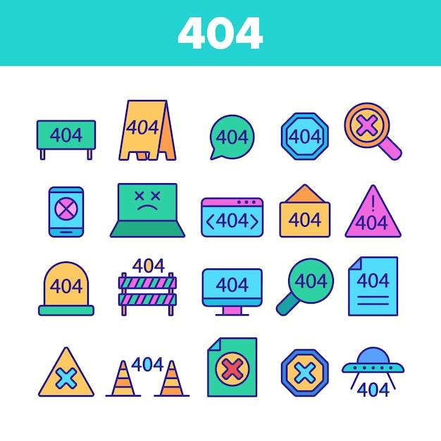 Erreur http couleur 404 Vecteur Premium