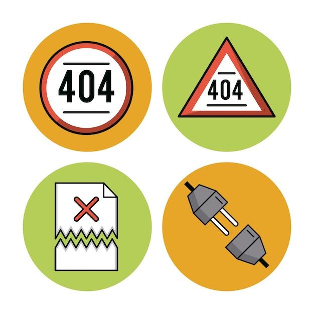 Erreurs 401 icônes sur fond blanc vector illustration graphisme Vecteur Premium