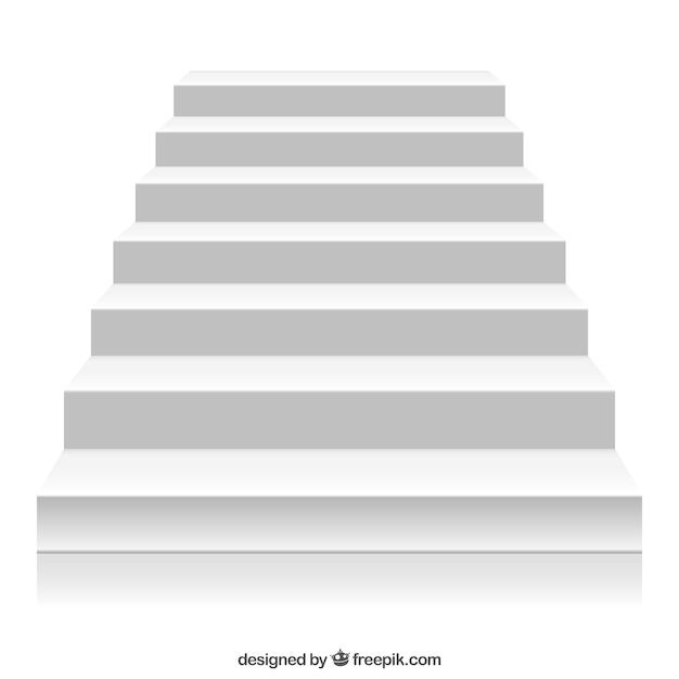 Escalier Blanc Vecteur Premium