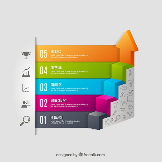 Escalier Infographie Vecteur gratuit