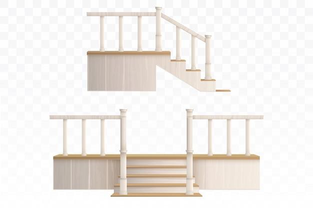 Escalier Porche En Bois Vecteur gratuit