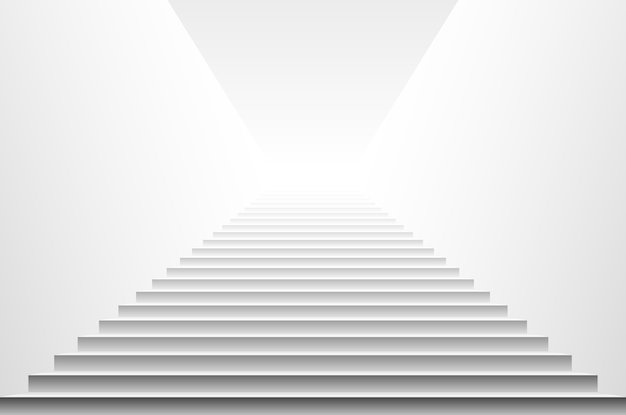 Escaliers Isolés Sur Fond Blanc. Pas. Illustration Vectorielle Vecteur Premium