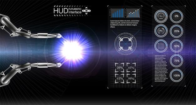 Espace D'affichage Hud. Vecteur Premium