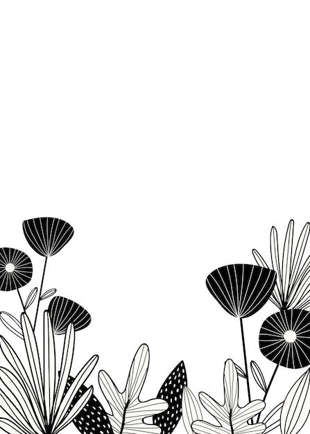 Espace de conception botanique Vecteur gratuit