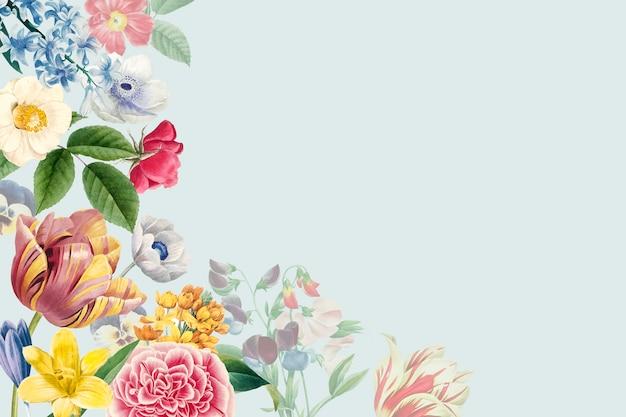 Espace de copie floral vierge Vecteur gratuit