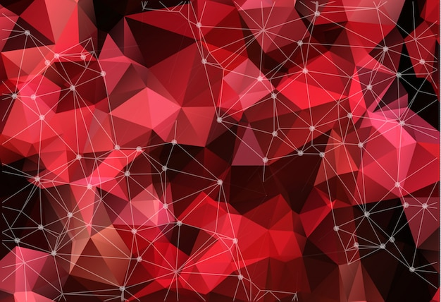 Espace vectoriel abstrait fond rouge. Vecteur Premium