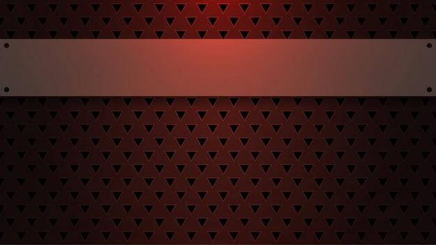 Espace vide sur fond triangulaire Vecteur Premium