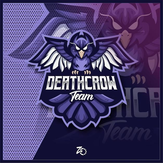 Esports De Jeu Death Crow Vecteur Premium