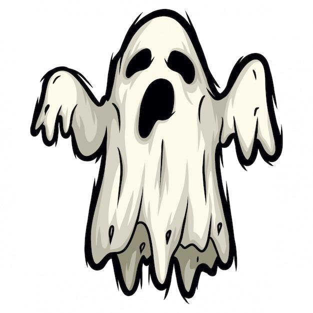 Esprit fantôme d'halloween Vecteur Premium