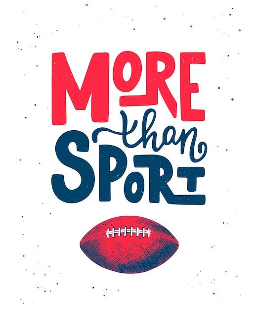 Esquisse D'un Ballon De Football Américain, Plus Que Du Sport Vecteur Premium