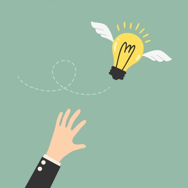 Essayer d'attraper une idée Vecteur gratuit