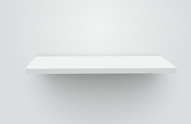 Étagère Vide Réaliste Blanche Vecteur Premium