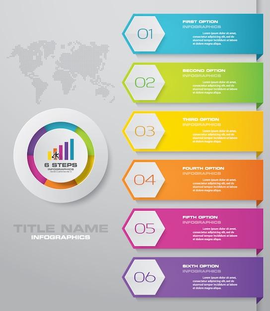 Étapes élément simple et modifiable graphique élément infographie. Vecteur Premium