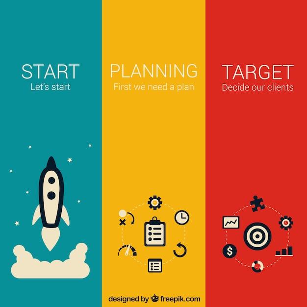 Étapes De L'entrepreneuriat Vecteur gratuit